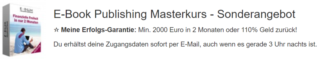Ebook Publishing Masterkurs